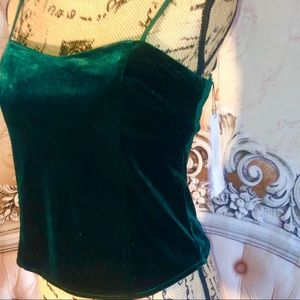 And1 Tops - Emerald Velvet Corset Style Top